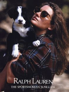 Those glasses. And I love her hair. And the dog is just precious. Gahh, I love Ralph Lauren.