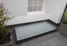 Walk on Glass Rooflight to roof terrace by IQ Glass