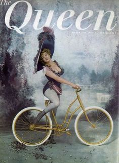 Marilyn Monroe on the cover of The Queen magazine, March 17, 1959, UK. Cover photo of Marilyn as Lillian Russell by Richard Avedon, 1957.