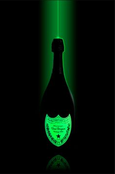 Glow in the dark Dom. Champagne Dom Perignon, Don Perignon, Spirit Drink, Champagne Bar, In Vino Veritas, Party Drinks, Cocktails, Sparkling Wine, Wine And Spirits