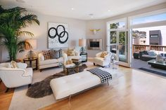 Gorgeous, modern living room in this San Francisco.