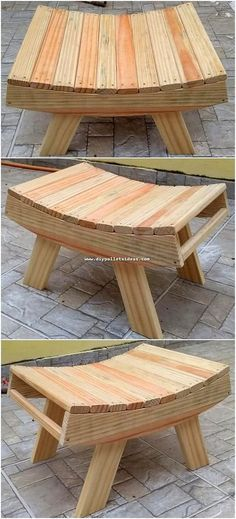 It would be a best option to come up with the utilization of the wood pallet in the project designing of the wood pallet table design artwork. Here the image would show you out the amazing use of the wood pallet over the majestic table designing all around it. You would love it for sure! Diy Pallet, Pallet Ideas, Wood Pallet Tables, Pallet Designs, Pallet Crafts, Wood Pallets, Diy Wood Projects, Diy Furniture Sofa, Furniture Projects