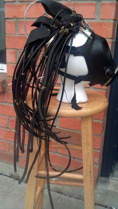 Futuristic Industrial Cyberpunk Cyber Goth Head by CyberFreak, $90.00    #industrial fashion #rivethead fashion #cyberpunk fashion #cyber goth fashion #rivethead hair falls #cyberpunk hair falls #cyber goth hair falls
