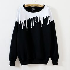 Aliexpress.com : Buy 2015 womens fall fashion harajuku sweatshirt paint pattern fashion korean style sweatshirts KB790 from Reliable sweatshirt pattern suppliers on GetUBacK  | Alibaba Group