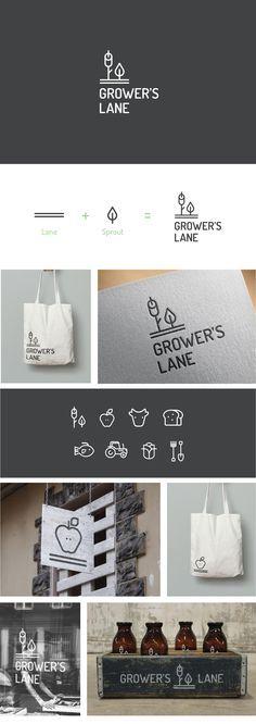 Logo Design, Brand Identity Grocery Store, Market Deli Gourmet Fresh Food…