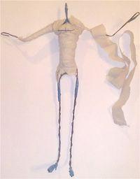 Формирование тела куклы на проволочном каркасе