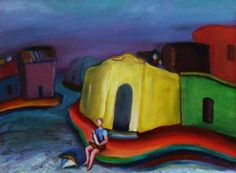 "Prudencio Hernandez -Paint Artist - Cityscapes-  ""Historia de un niño solo ""- Oil on canvas-35 x 45 cm.-2009"