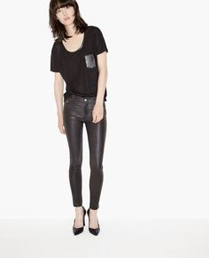 Leather trousers - Leather - The Kooples