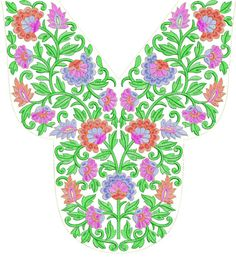 Arebain Neck Embroidery Design Free Download ~ Embdesigntube
