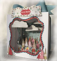 Very pretty card to make! So different! Step by step tutorial on how to make this.