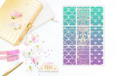Washi stickers that coordinate with the month of April in the Erin Condren Life Planner.  Matte Finish  Spend $50 get free shipping with coupon