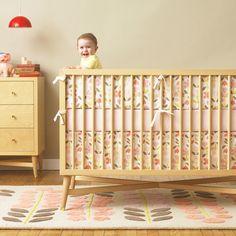 Rosette Nursery Bedding Collection via Dwell Studio