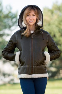 Jane Sheepskin B-3 Bomber Jacket | Overland Sheepskin