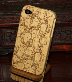 octopus wood iphone 4 casewood iphone 4s by viviangiftstudio, $22.99