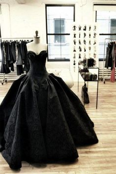 Black ball gown.