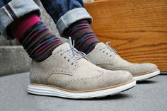 Cole Haan LunarGrand and funky socks