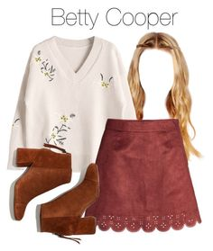 A fashion look from December 2017 featuring Madewell ankle booties. Browse and shop related looks. Betty Cooper Style, Betty Cooper Outfits, Trendy Summer Outfits, Preppy Outfits, Cute Outfits, Girls Fashion Clothes, Fashion Outfits, Riverdale Fashion, Polyvore Outfits