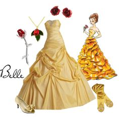 Disney Designer Dolls: Belle, i want this so badly Disney Themed Outfits, Disney Dresses, Prom Dresses, Quince Dresses, Quinceanera Dresses, Ball Dresses, Estilo Disney, Belle Dress, Belle Ballgown