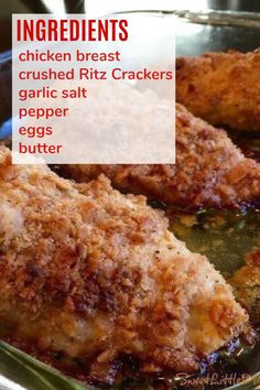 Best Baked Chicken Recipe, Yummy Chicken Recipes, Yummy Food, Chicken Meals, Meal Recipes, Dinner Recipes, Main Course Dishes, Main Dishes, Ritz Cracker Chicken