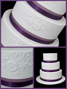 Look closely. There is a soccer ball imprinted in the frosting for a soccer-themed wedding where both the bride and ...