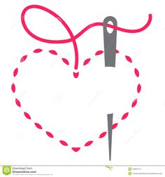 Find Heart Needle Thread Vector Illustration stock images in HD and millions of other royalty-free stock photos, illustrations and vectors in the Shutterstock collection. Cover Letter Layout, Sewing Clipart, Quilt Labels, Floral Logo, Vintage Typography, Cross Stitch Designs, Needle And Thread, Free Sewing, Illustration