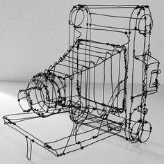 Beautiful Three-Dimensional Sculptures by Martin Senn http://designwrld.com/three-dimensional-wire-sculptures/