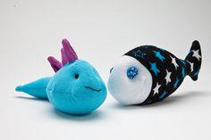 Sock animal fish.  Blog - Tracy Watson Art