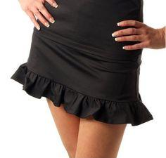 I found this at Pink Golf Tees! Smashing Diana Black Ruffle Skort - Size: Small