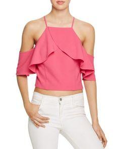 JOA Cold Shoulder Ruffle Top. #joa #cloth #top