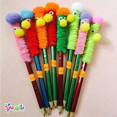 Monster Heringe - DSelbermachen ideen - Fun pencil back to school craft! Informations About Monster Heringe – DSelbermachen ideen Pin You - Kids Crafts, Diy Crafts For Girls, Summer Crafts, Crafts To Do, Preschool Crafts, Easy Crafts, Arts And Crafts, Easy Diy, Pencil Topper Crafts