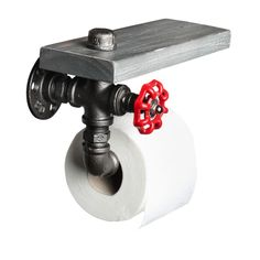 Toiler paper holder Fire hydrant made from Industrial vintage pipe, Best fire hydrant design you can get for a cool boutique hotel, warehouse loft apartment