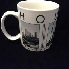 Starbucks Barista HOUSTON City Scenes Series BIG Coffee Mug 2004 #Starbucks