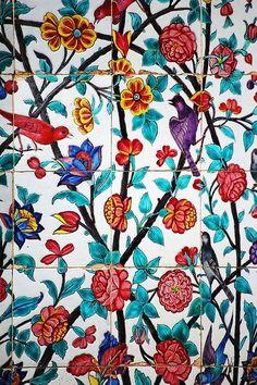 antieverythingism:  Handmade tiles. Iran, Shiraz.
