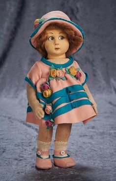 """Among Friends, The Billie and Paige Welker Collection"": 319 Italian Felt Character Doll by Lenci"