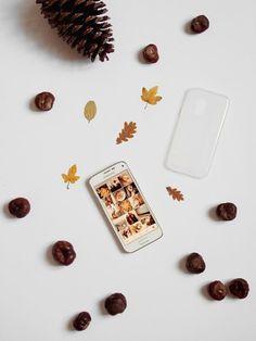 HERBST DIY Phone Case mit bunten Herbstblättern | ellawayfarer.com