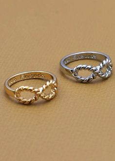 Twisted infinity ring, everyday ring