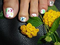 Louis Vuitton Murakami Nail Art Design