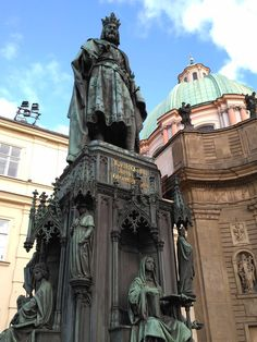 The mighty King Charles who built the Charles Bridge. Prestige Prague Tours #prestigeprague