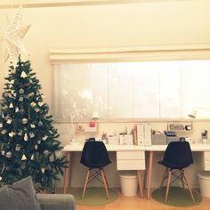 eRingさんの、リビング,IKEA,雑貨,勉強机,100均,セリア,クリスマス,白黒,ホワイトインテリア,北欧インテリア,クリスマスディスプレイ,Xmas雑貨,Xmas飾り,リビング学習,Xmasオーナメント,クリスマスインテリア,のお部屋写真