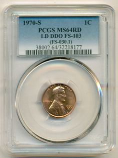 1970 S Lincoln Memorial Cent Large Date DDO Variety FS-103 MS64 RED PCGS  SOLD!