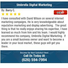 I have consulted with David Wilson on several internet marketing campaigns. He is very...