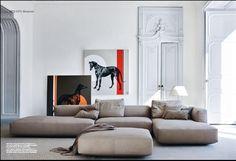 zanotta by ballarini interni. Living Room. Modular Sofa. Horse Art. Home. Decor. Minimalism.