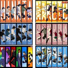 Naruto characters through the years