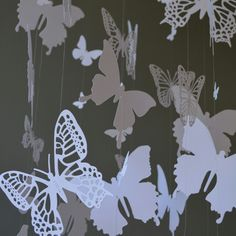 New! Last white butterfly mobile in this size/with these butterflies I can make at the moment.