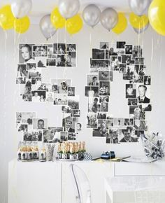 Unbelievable Adult Party Ideas Use Martha Stewart& Ideas to find simple, affordable adult birthday party themes. Adult Birthday Party, Mom Birthday, Birthday Wall, Surprise Birthday, Classy Birthday Party, 75th Birthday, Golden Birthday, Special Birthday, Fiftieth Birthday