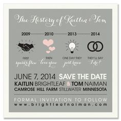 Timeline Save the Date - Unique Wedding Save-the-Date by The Green Kangaroo