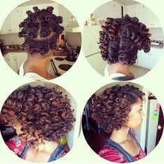 Bantu knots, so cute...