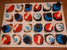 Graduation/Navy Cupcakes