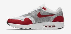 NIKE-AIR-MAX-1-ULTRA-FLYKNIT-blanche rouge