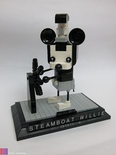 Disney's 1928 short Steamboat Willie is considered to be the first appearance of Mickey Mouse, and now Dick Cheung brings us this lovely – and completely monochromatic – representation of the famous 89-year-old mouse in the current LEGO Brickheadz style. Mickey is seen with his hands on the ship's wheel as he appears in the …